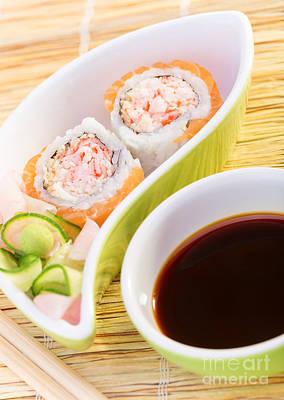 Tasty Sushi Art Print by Anna Om