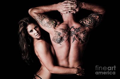 Nude Wife Photograph - Tat Attraction by Jt PhotoDesign