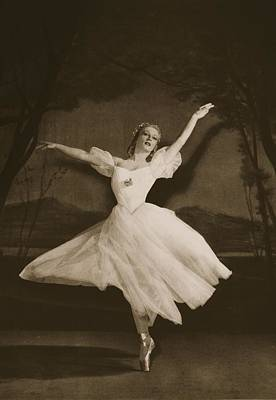 Stage Theater Photograph - Tatiana Riabouchinska In Les Sylphides by French School