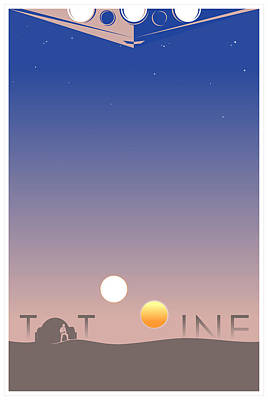 Tatooine Art Print by Vincent Carrozza