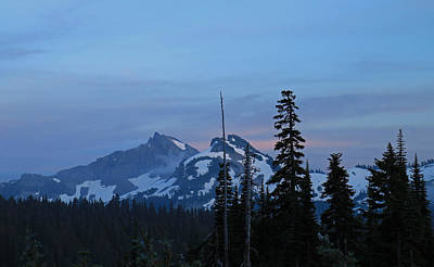 Photograph - Tatoosh At Dusk by E Faithe Lester