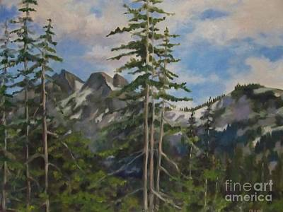 Painting - Tatoosh Mountains In Cascades by Karen Olson