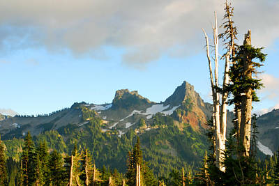 Photograph - Tatoosh Range In August. Mt Rainier National Park by Connie Fox
