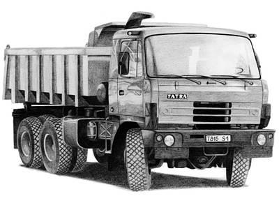 Drawing - Tatra 815 S1 by Milan Surkala