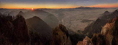 Tatra Mountains From Pieniny Mountains Art Print by Panoramic Images