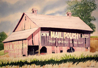 Mail Pouch Barn Painting - Tattered Mailpouch by Jim Gerkin
