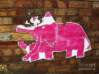 Photograph - Tattered Pink Elephant by Ethna Gillespie