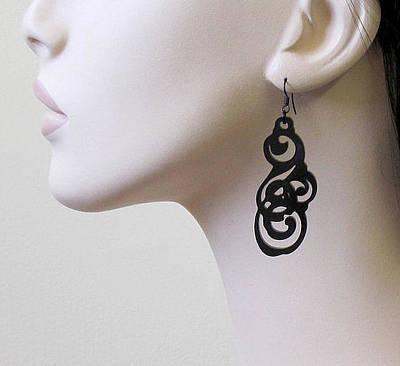 Laser Cut Gifts Jewelry - Tattoo Art Earrings by Rony Bank