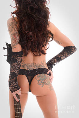 Tat Photograph - Tattoo Rocker Backside by Jt PhotoDesign