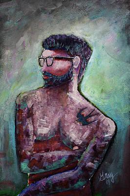 Painting - Tattoos And Beards by Gray  Artus