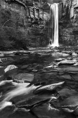 Taughannock Black And White Print by Bill Wakeley