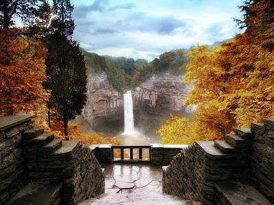 Stairs Digital Art - Taughannock Falls 2 by Jessica Jenney