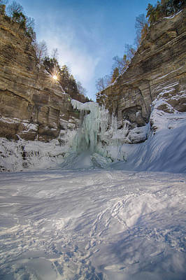 Photograph - Taughannock  Falls 7k00258 by Guy Whiteley
