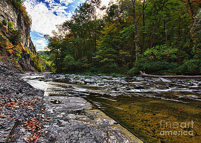 Photograph - Taughannock Gorge Early Autumn by Brad Marzolf Photography