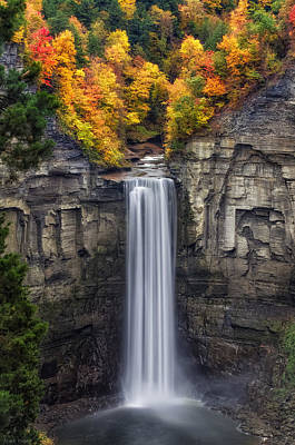 Water Falls Photograph - Taughannock by Mark Papke