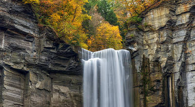 Taughannock Top Print by Mark Papke