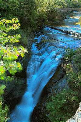 Photograph - Taughannock Upper Falls Ithaca New York by Paul Ge