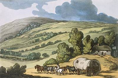 Vale Painting - Taunton Vale, Somersetshire by Thomas Rowlandson