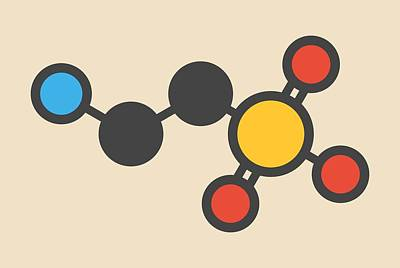 Taurine Molecule Art Print by Molekuul