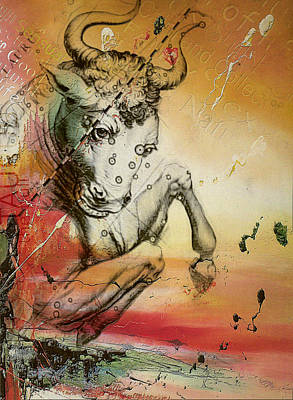 Kabbalah Painting - Taurus  by Corporate Art Task Force