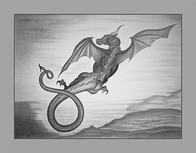 Drawing - Taurus Draconis by Robert Kernodle