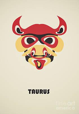 Zodiac Digital Art - Taurus by Igor Kislev
