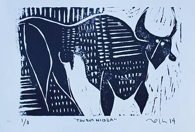 Printmaking Mixed Media - Taurus Negra  by Mark M  Mellon