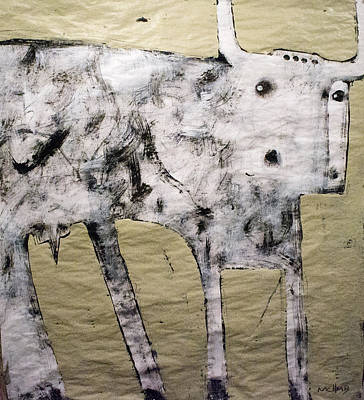 Outsider Painting - Taurus No 3 by Mark M  Mellon