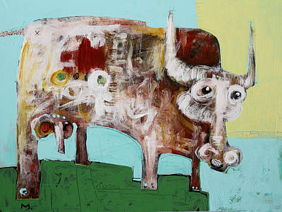 Outsider Art Mixed Media - Taurus No 4 by Mark M  Mellon