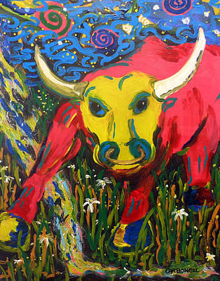 Zodiac Painting - Taurus by Rick Carbonell