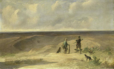 Poacher Drawing - Tavenraat Caught A Poacher, Johannes Tavenraat by Litz Collection