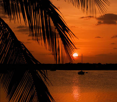 Photograph - Tavernier Key Red Sunset by Ginger Wakem