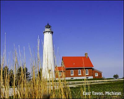 Life Gaurd Photograph - Tawas Point Lighthouse East Tawas Michigan by LeeAnn McLaneGoetz McLaneGoetzStudioLLCcom