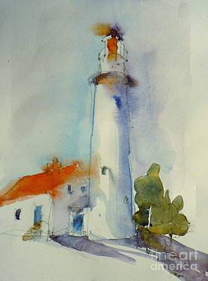 Lighthouse Painting - Tawas Point Lighthouse by Jennifer Wu