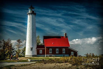Photograph - Tawas Point Lighthouse by Ronald Grogan