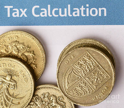 Photograph - Tax Calculation by Paul Cowan