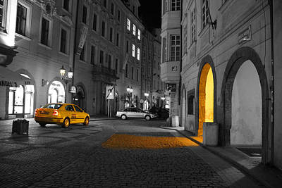 Prague Digital Art - Taxi by Brendan Quinn