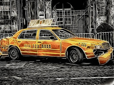 Photograph - Taxi For Govan by Fiona Messenger