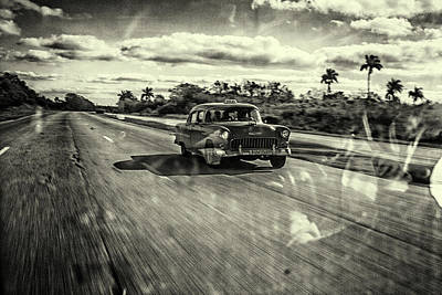 Taxi Havana Art Print