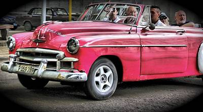 Photograph - Taxi In Cuba by Perry Frantzman