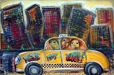 Taxi Art Print by Laura Barbosa