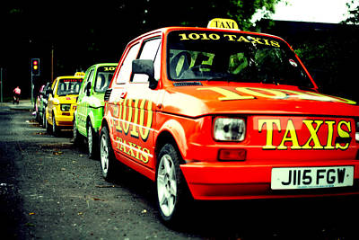 Photograph - Taxi Line by Anthony Bean