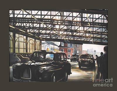 Taxi-waterloo. Art Print by Caroline Beaumont