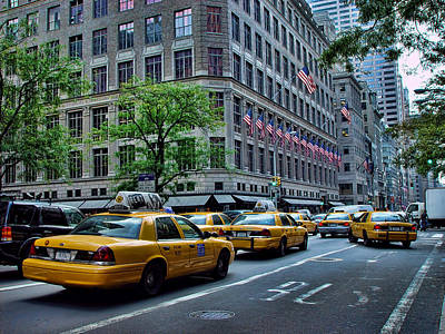 Photograph - Taxicabs Of New York City by New York