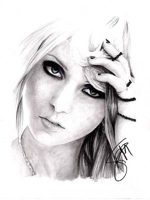 Drawing - Taylor Momsen by Rosalinda Markle