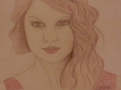 Taylor Swift Wall Art - Drawing - Taylor Swift by Christy Saunders Church