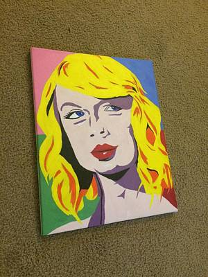 Taylor Swift Painting - Taylor Swift Color by Richie Wentworth