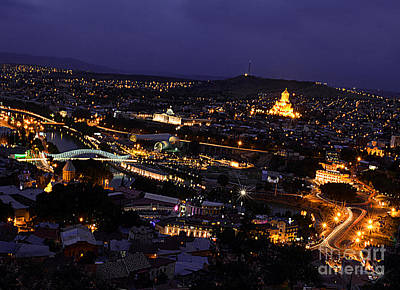 Tbilisi Photograph - Tbilisi At Night by Armine Yepremyan