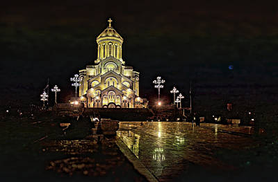 Sameba Photograph - Tbilisi Church by Gouzel -