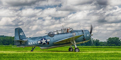 Photograph - Tbm-3u Avenger  7d04c by Guy Whiteley